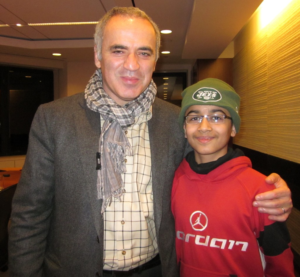 Akshat Chandra and Garry Kasparov 1