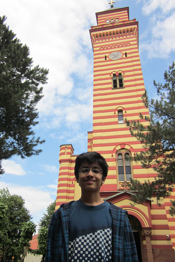 At the 18th century Holy Trinity Church - a famous landmark monument on the banks of River Crnica in Paracin