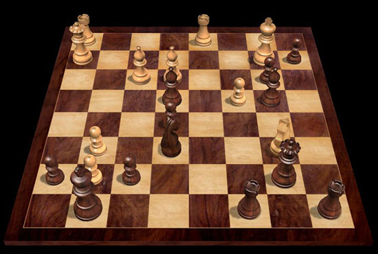 Actual Postion - Black to Move now in a combination  which  secures a decisive advantage