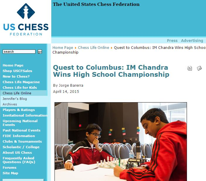 Winning the National High School Championship - US Chess Online