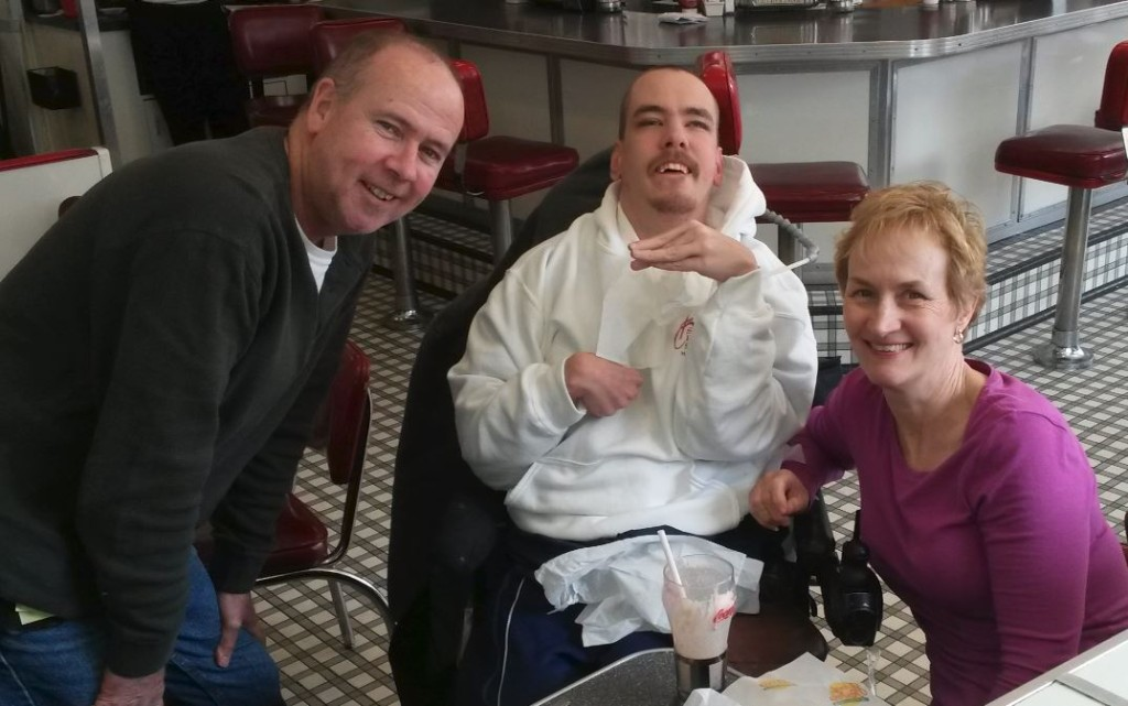Tom with his parents, a few hours before his Philadelphia Open game, where he met me. April 2015